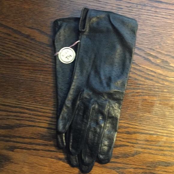 Accessories - Vintage Black Leather Gloves